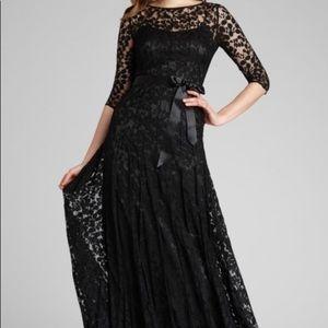 Teri Jon navy lace mother of the bride dress